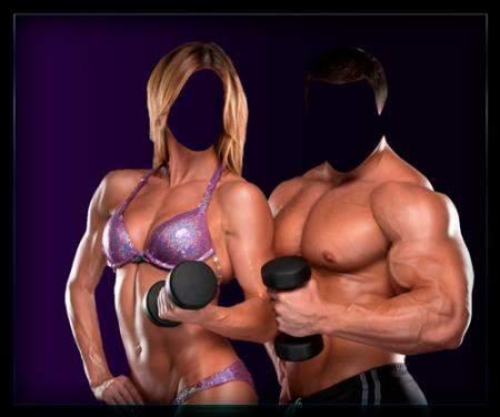 Фотошаблон для фотошопа - Со спортом по жизни