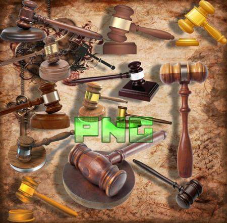 Растровые клипарты - Молоток для судьи