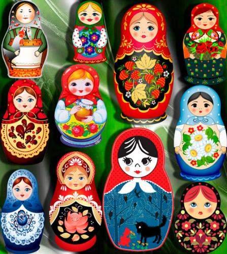 Клипарты / Cliparts - Русские матрешки