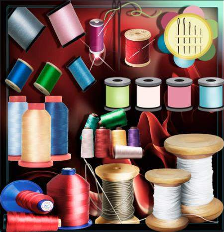 Прозрачные клипарты для фотошопа - Разноцветные нитки