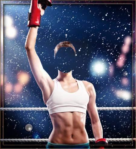 Шаблон женский - Сильная девушка