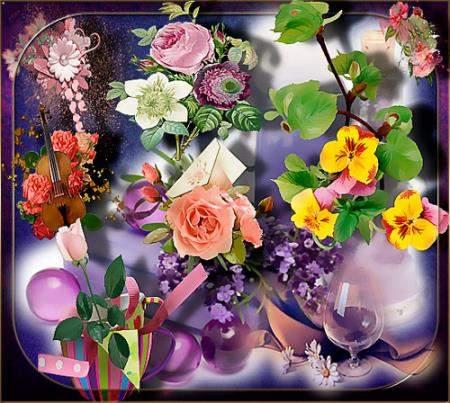 Клипарты без фона - Нежность цветов