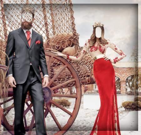 Юмористический фотошаблон - Королевская пара