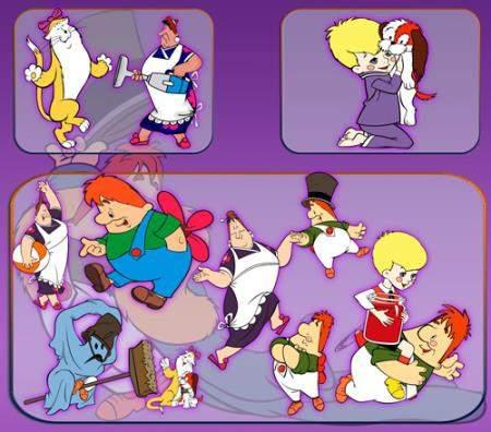 Клипарты на прозрачном фоне - Мультфильм Малыш и Карлсо ...