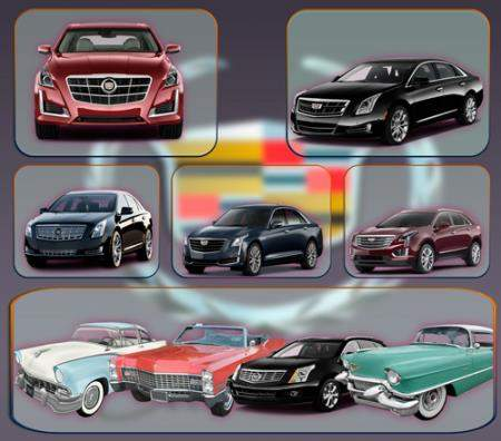 Растровые клипарты - Автомобиль Cadillac