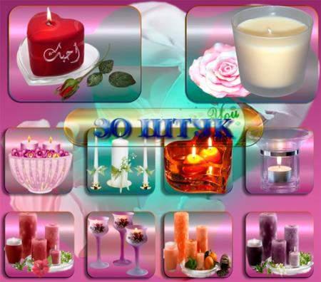 Png прозрачный фон - Праздничные свечи