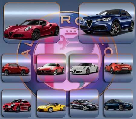 Клипарты для фотошопа - Автомобили Alfa romeo