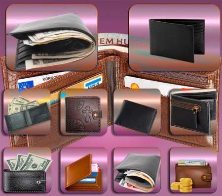 Png клипарты для фоторамки - Бумажники с валютой