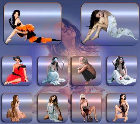 Клипарты без фона - Девушки красавицы