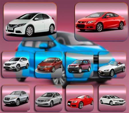 Клипарты для фотошопа - Автомобиль Honda Хонда