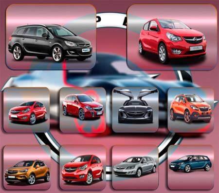 Клипарты / Cliparts - Автомобиль Opel Опель