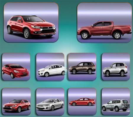Клипарты на прозрачном фоне - Автомобиль Mitsubishi